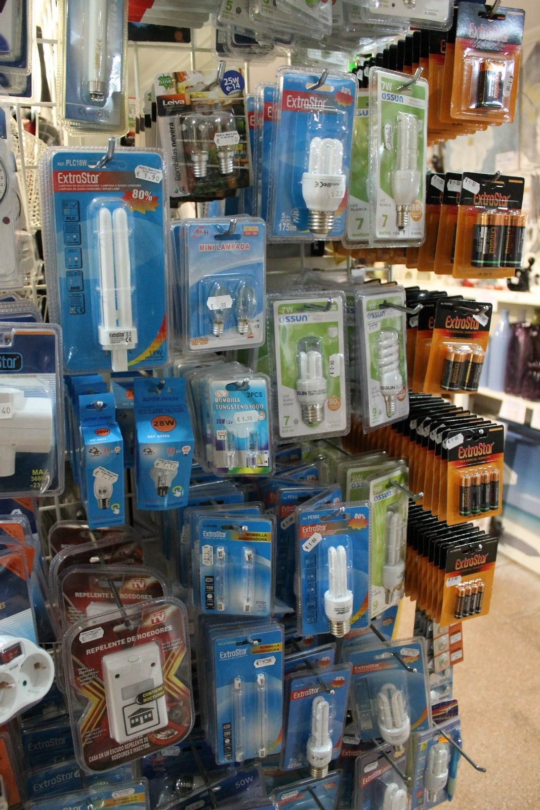 Lamps for sale, Torrevieja, Spain
