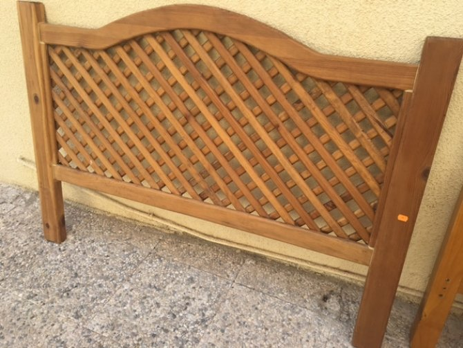 Second-hand furniture Double Rustic Headboard, Torrevieja, Spain