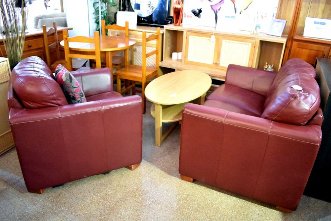 Second-hand furniture Leather Sofa and Chair, Torrevieja, Spain