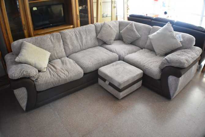 Second-hand furniture Corner Sofa and Pouffe, Torrevieja, Spain