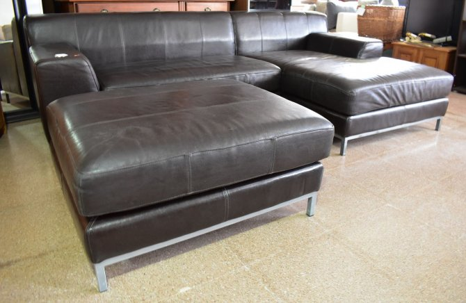 Second-hand furniture Leather Sofa Chaise, Torrevieja, Spain