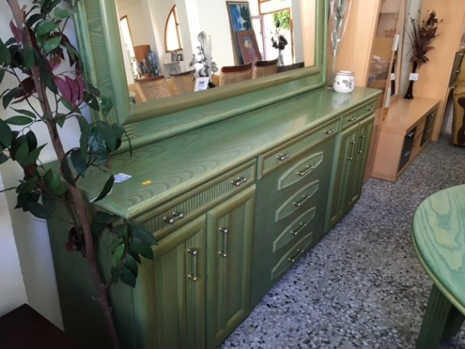 Second-hand furniture Sideboard, mirror, table and chairs, Torrevieja, Spain