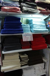 Towels for sale, Torrevieja, Spain